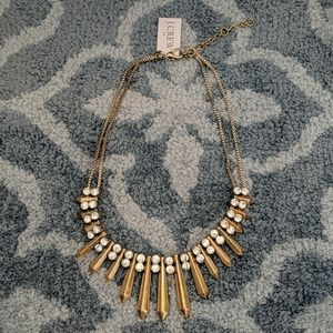 J.Crew Golden necklace with rhinestone detail